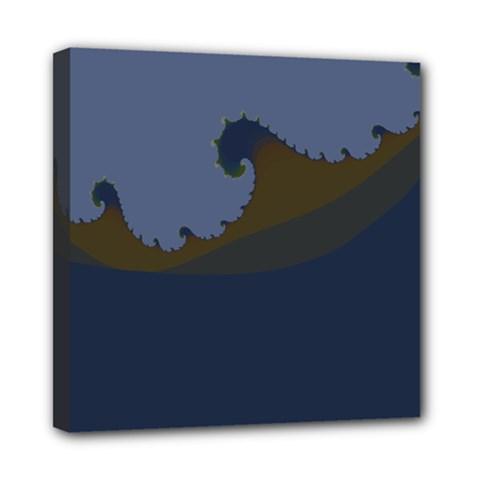 Ocean Waves Mini Canvas 8  X 8  by theunrulyartist