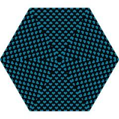 Blue Hearts Valentine s Day Pattern Mini Folding Umbrellas by LovelyDesigns4U