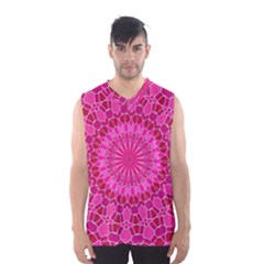 Pink And Red Mandala Men s Basketball Tank Top by LovelyDesigns4U