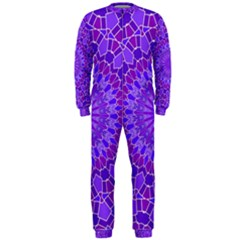 Purple Mandala OnePiece Jumpsuit (Men)  by LovelyDesigns4U