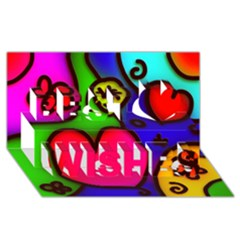 Colorful Modern Love 2 Best Wish 3d Greeting Card (8x4)  by MoreColorsinLife