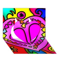 Colorful Modern Love Heart 3d Greeting Card (7x5)  by MoreColorsinLife