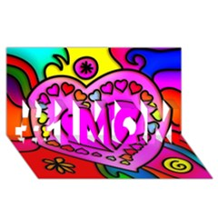 Colorful Modern Love #1 Mom 3d Greeting Cards (8x4)  by MoreColorsinLife