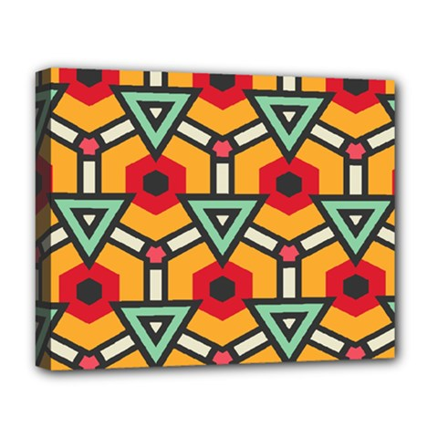 Triangles And Hexagons Pattern Deluxe Canvas 20  X 16  (stretched) by LalyLauraFLM