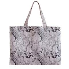 White Marble Zipper Tiny Tote Bags