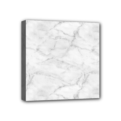 White Marble 2 Mini Canvas 4  X 4  by ArgosPhotography