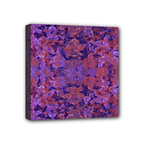 Intricate Patterned Textured  Mini Canvas 4  X 4  by dflcprints