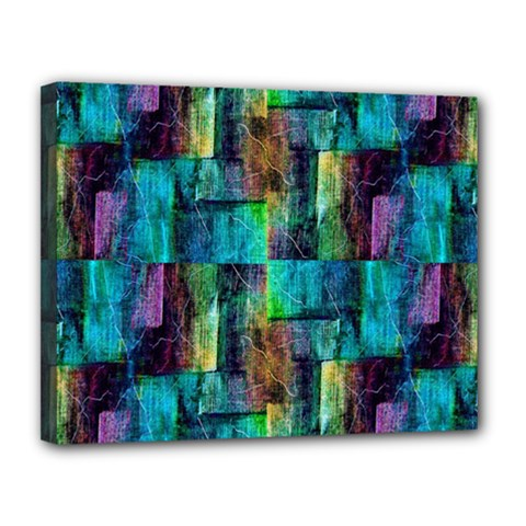 Abstract Square Wall Canvas 14  X 11  by Costasonlineshop
