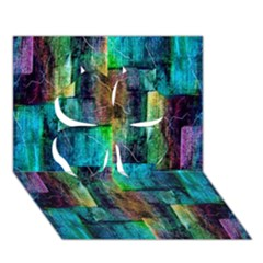 Abstract Square Wall Clover 3d Greeting Card (7x5)  by Costasonlineshop