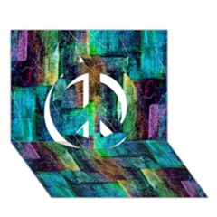 Abstract Square Wall Peace Sign 3d Greeting Card (7x5)  by Costasonlineshop