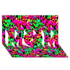 Colorful Leaves Mom 3d Greeting Card (8x4)  by Costasonlineshop