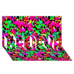 Colorful Leaves Believe 3d Greeting Card (8x4)  by Costasonlineshop