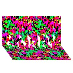 Colorful Leaves Sorry 3d Greeting Card (8x4)  by Costasonlineshop