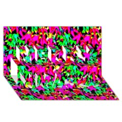 Colorful Leaves Merry Xmas 3d Greeting Card (8x4)  by Costasonlineshop