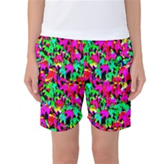 Colorful Leaves Women s Basketball Shorts by Costasonlineshop