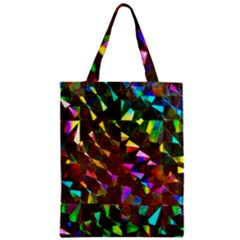 Cool Glitter Pattern Zipper Classic Tote Bags by Costasonlineshop