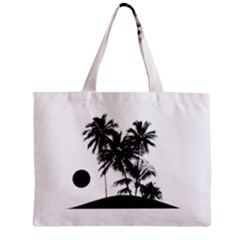 Tropical Scene Island Sunset Illustration Zipper Tiny Tote Bags by dflcprints