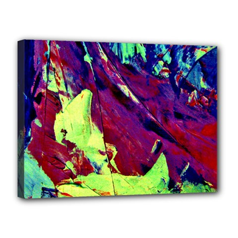 Abstract Painting Blue,Yellow,Red,Green Canvas 16  x 12  by Costasonlineshop