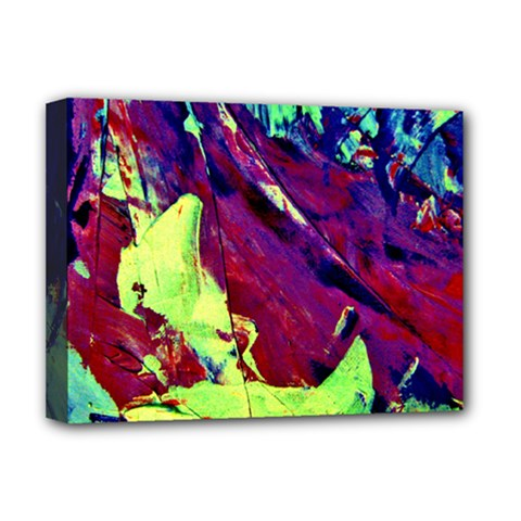 Abstract Painting Blue,Yellow,Red,Green Deluxe Canvas 16  x 12   by Costasonlineshop