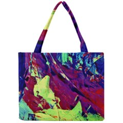 Abstract Painting Blue,yellow,red,green Tiny Tote Bags by Costasonlineshop