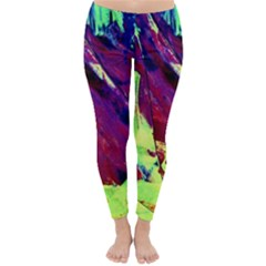 Abstract Painting Blue,Yellow,Red,Green Winter Leggings  by Costasonlineshop