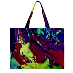 Abstract Painting Blue,yellow,red,green Zipper Tiny Tote Bags by Costasonlineshop