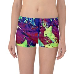 Abstract Painting Blue,Yellow,Red,Green Boyleg Bikini Bottoms by Costasonlineshop
