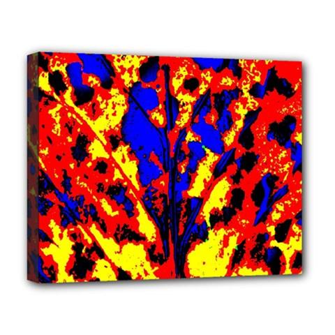 Fire Tree Pop Art Deluxe Canvas 20  X 16   by Costasonlineshop