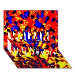 Fire Tree Pop Art You Are Invited 3d Greeting Card (7x5)  by Costasonlineshop