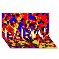 Fire Tree Pop Art Party 3d Greeting Card (8x4)  by Costasonlineshop