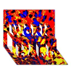 Fire Tree Pop Art Work Hard 3d Greeting Card (7x5)  by Costasonlineshop