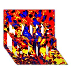Fire Tree Pop Art Take Care 3d Greeting Card (7x5)  by Costasonlineshop