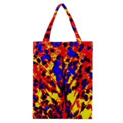 Fire Tree Pop Art Classic Tote Bags by Costasonlineshop