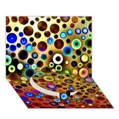 Colourful Circles Pattern Circle Bottom 3d Greeting Card (7x5)  by Costasonlineshop