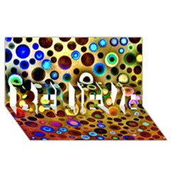 Colourful Circles Pattern Believe 3d Greeting Card (8x4)  by Costasonlineshop