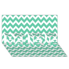 Chevron Pattern Gifts BELIEVE 3D Greeting Card (8x4)  by creativemom