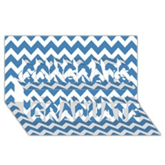 Chevron Pattern Gifts Congrats Graduate 3d Greeting Card (8x4)  by creativemom