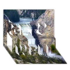 Yellowstone Waterfall Get Well 3d Greeting Card (7x5)  by trendistuff
