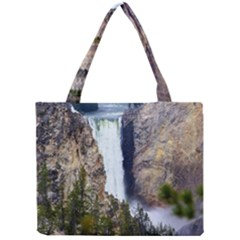 Yellowstone Waterfall Tiny Tote Bags by trendistuff
