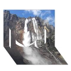 SALTO DEL ANGEL I Love You 3D Greeting Card (7x5)  by trendistuff