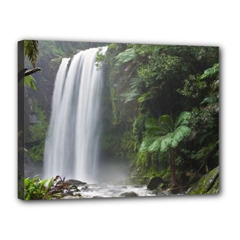 Hopetoun Falls Canvas 16  X 12  by trendistuff