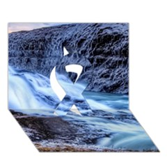 Gullfoss Waterfalls 1 Ribbon 3d Greeting Card (7x5)  by trendistuff