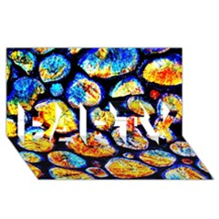 Woodpile Abstract Party 3d Greeting Card (8x4)  by Costasonlineshop