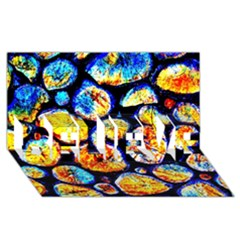 Woodpile Abstract Believe 3d Greeting Card (8x4)  by Costasonlineshop