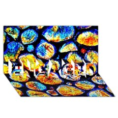 Woodpile Abstract Engaged 3d Greeting Card (8x4)  by Costasonlineshop