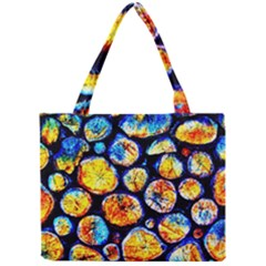 Woodpile Abstract Tiny Tote Bags by Costasonlineshop