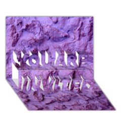 Purple Wall Background You Are Invited 3d Greeting Card (7x5)  by Costasonlineshop