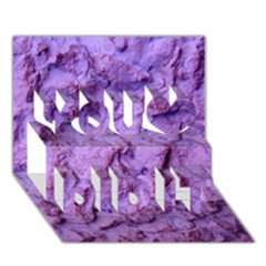 Purple Wall Background You Did It 3d Greeting Card (7x5) by Costasonlineshop