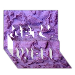 Purple Wall Background Get Well 3d Greeting Card (7x5)  by Costasonlineshop