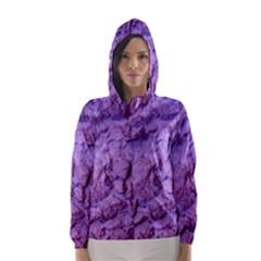 Purple Wall Background Hooded Wind Breaker (women) by Costasonlineshop